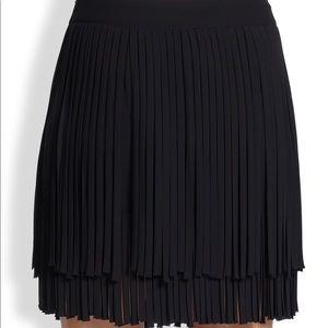 DKNY fringed skirt